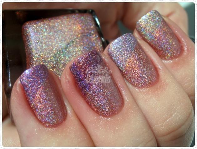 Brilho Rosa Up Colors Holográficos Comparação