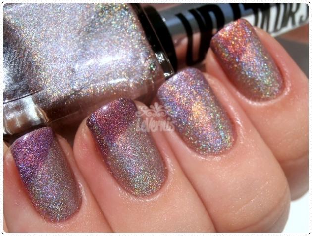 Rosa Prisma Up Colors Holográficos Comparação