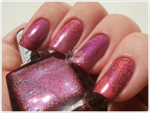 Rosa Star Up Colors Holográficos Comparação