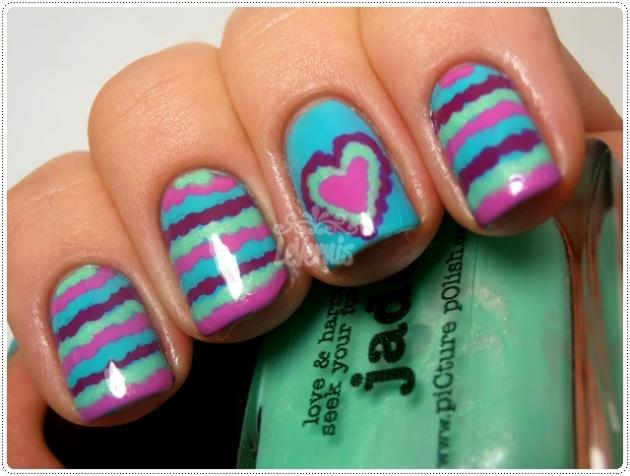 Ruffle Nail Art Dia Dos Namorados Valentine's Day Jade Picture Polish