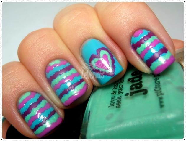 Ruffle Nail Art Dia Dos Namorados Valentine's Day