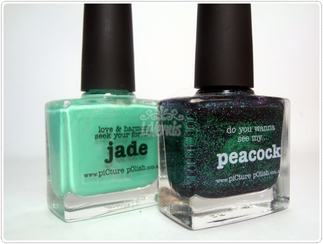 Jade Peacock piCture pOlish