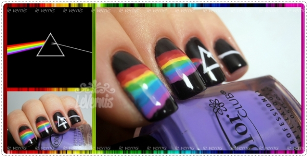 Dark Side of the Moon Nail Art