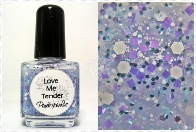 Love Me Tender by Penelope Luz Glitter Esmalte Artesanal
