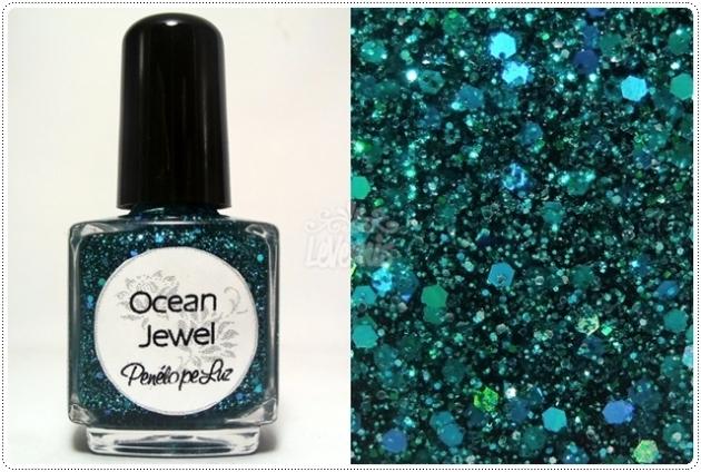 Ocean Jewel by Penelope Luz Glitter Esmalte Artesanal