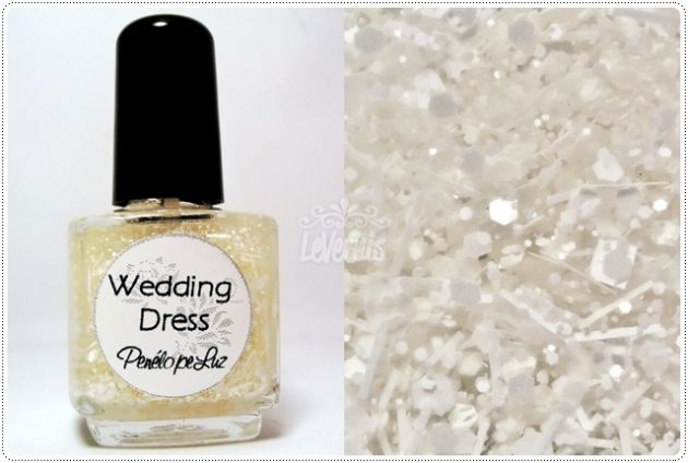 Wedding Dress by Penelope Luz Glitter Esmalte Artesanal