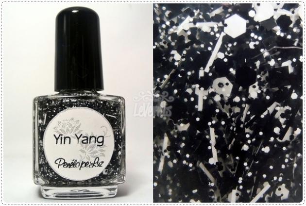 Yin Yang by Penelope Luz Glitter Esmalte Artesanal