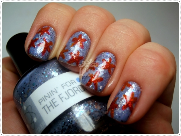 Pinin' for the Fjords(NerdLacquer) + Starfish Manicure