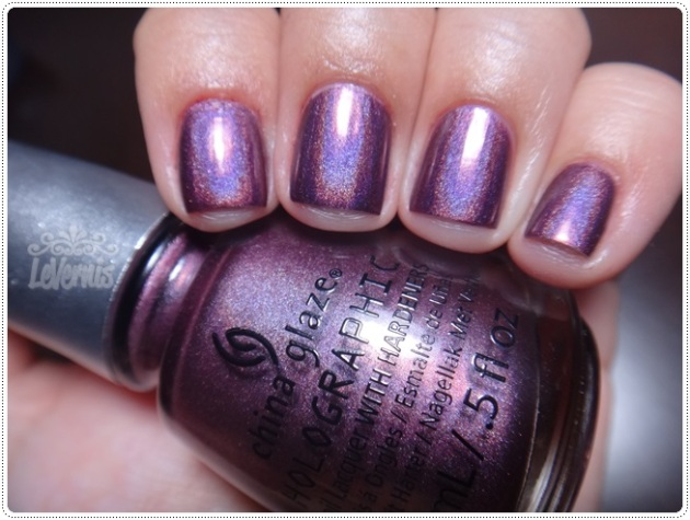 China Glaze - When Stars Collide --- sem flash com luz branca