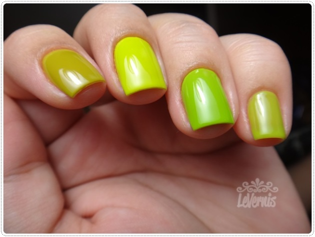Comparação - Colorama Retângulo Verde - Essence LOL - China Glaze Def Defying - Impala Pistache (1)