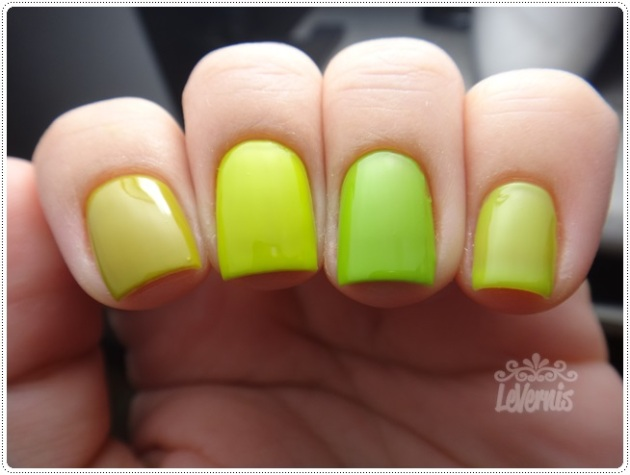 Comparação - Colorama Retângulo Verde - Essence LOL - China Glaze Def Defying - Impala Pistache (3)